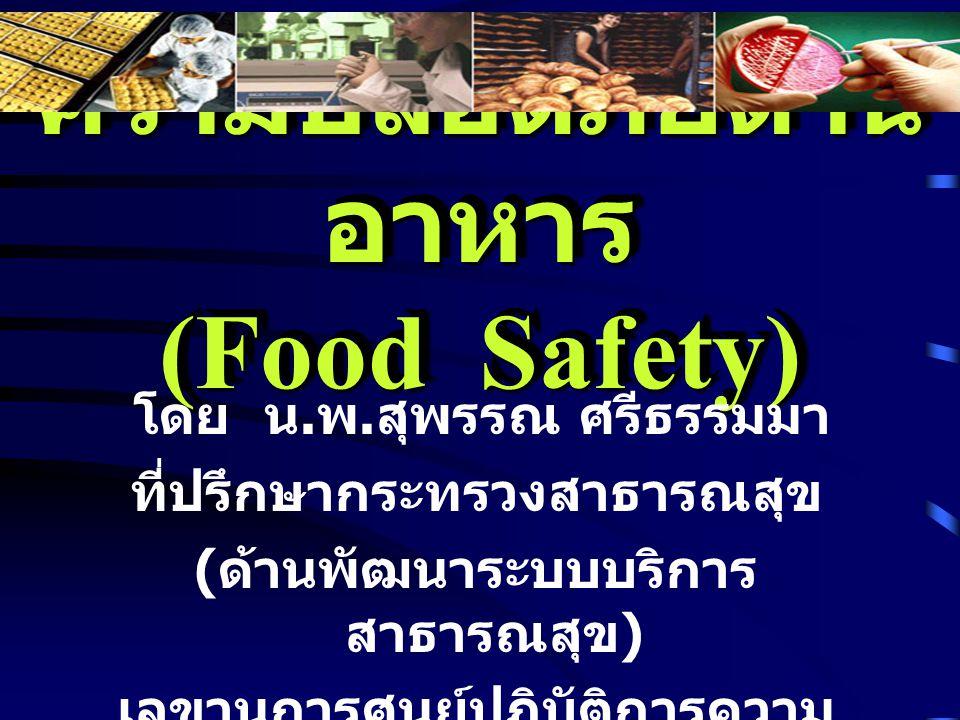 ความปลอดภัยด้านอาหาร (Food Safety)