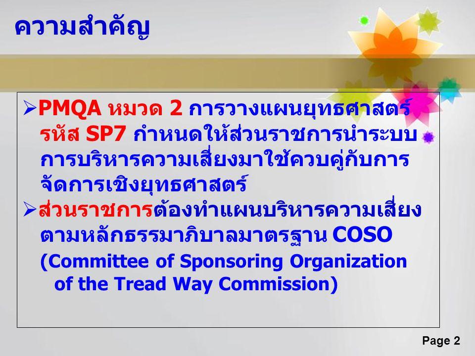 ความสำคัญ PMQA หมวด 2 การวางแผนยุทธศาสตร์