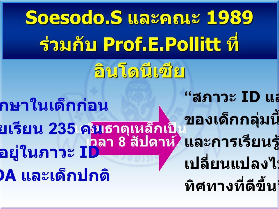 ร่วมกับ Prof.E.Pollitt ที่อินโดนีเซีย
