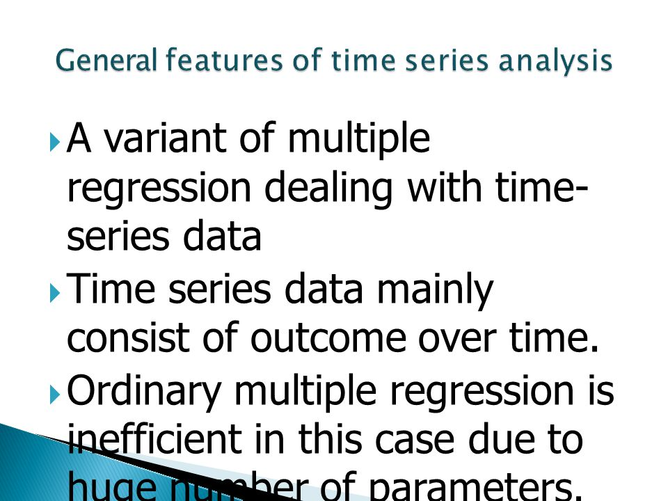 General features of time series analysis