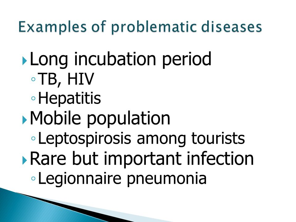 Examples of problematic diseases