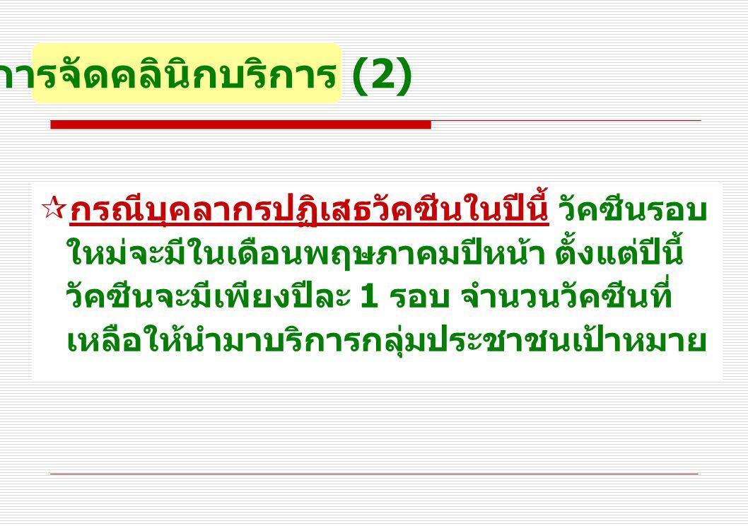 การจัดคลินิกบริการ (2)