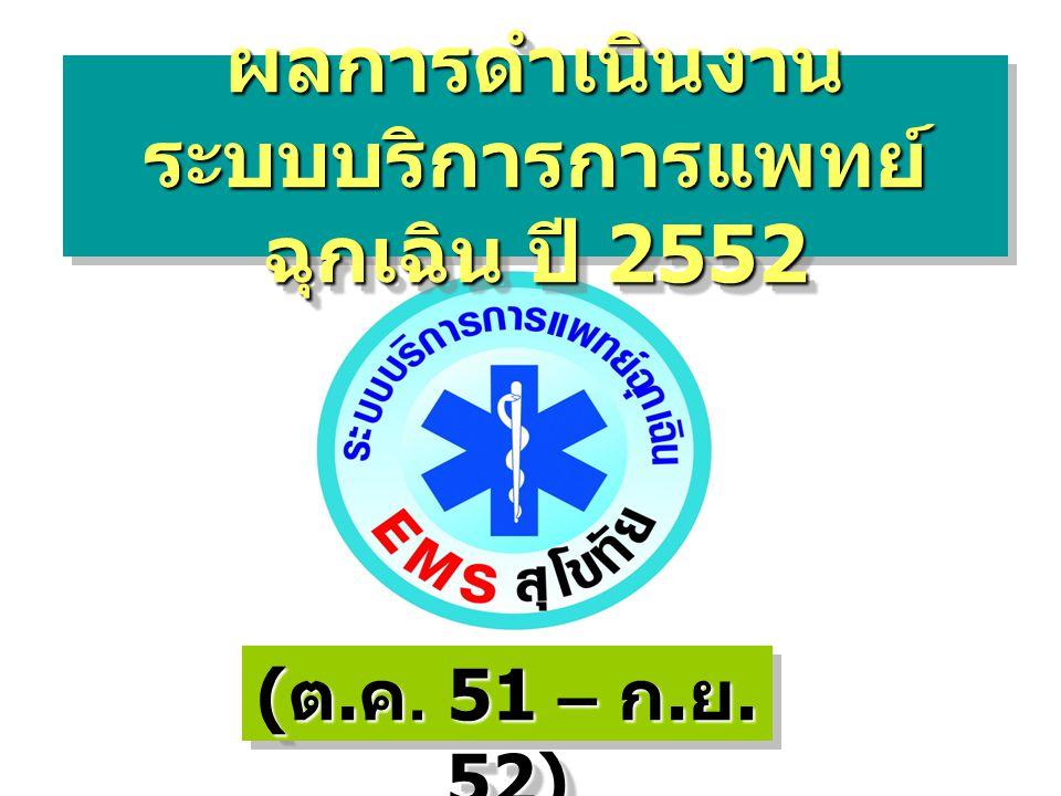 ผลการดำเนินงาน ระบบบริการการแพทย์ฉุกเฉิน ปี 2552