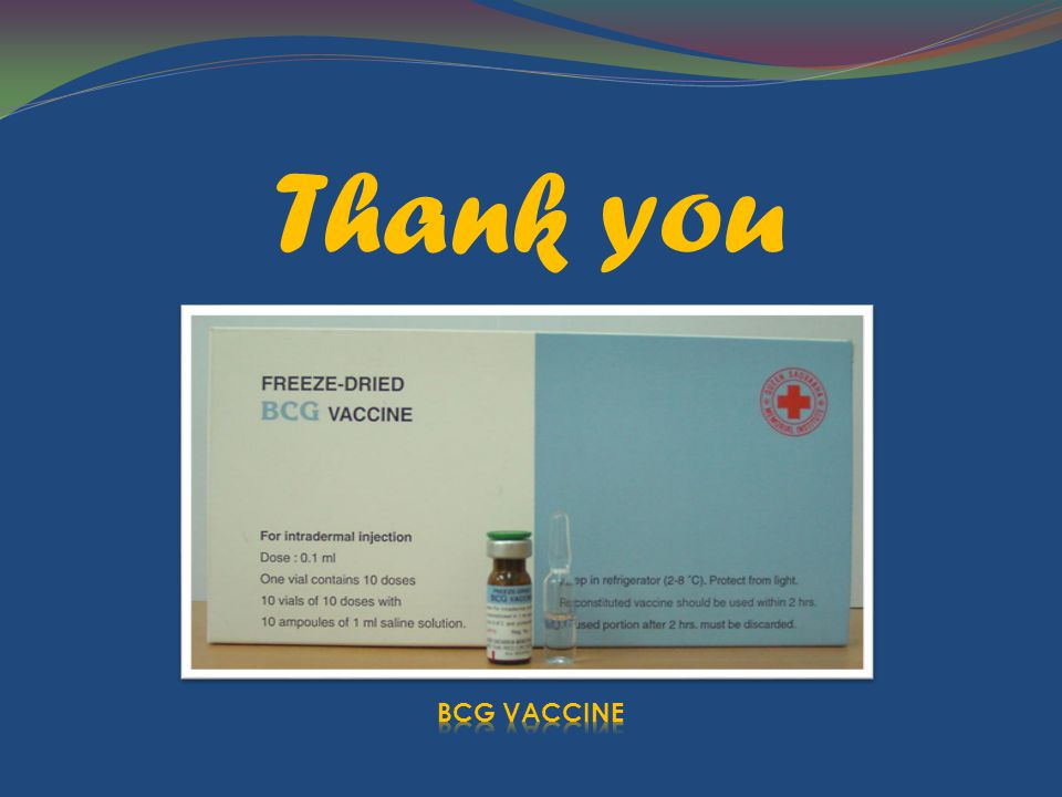 Thank you BCG VACCINE