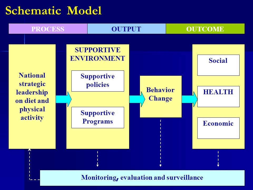 Monitoring, evaluation and surveillance