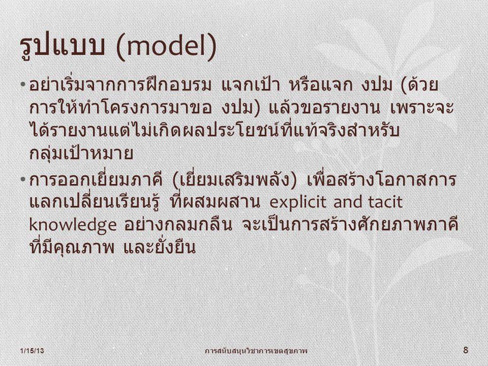 รูปแบบ (model)