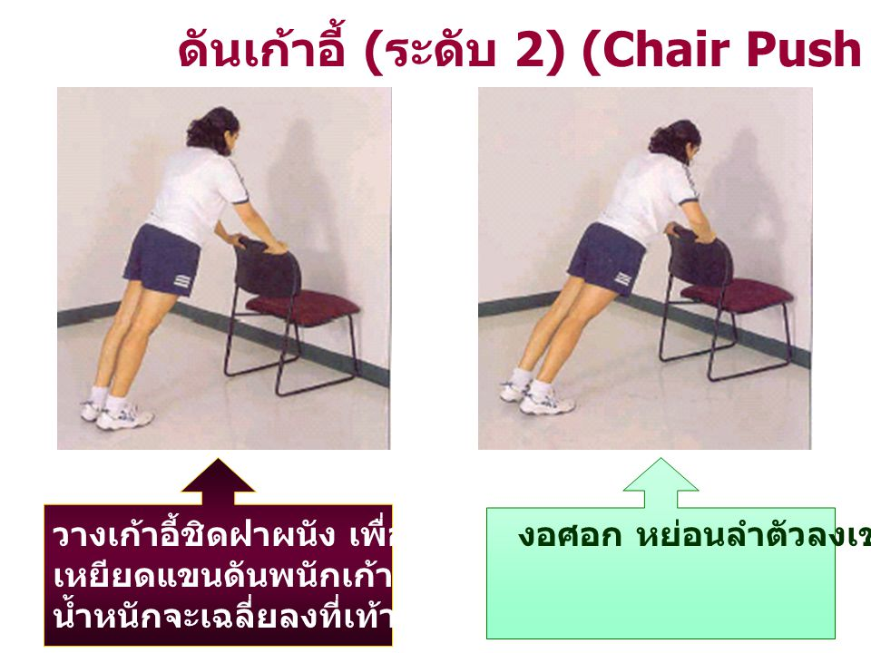 ดันเก้าอี้ (ระดับ 2) (Chair Push – Up)