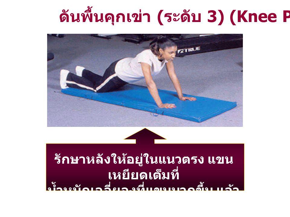 ดันพื้นคุกเข่า (ระดับ 3) (Knee Push – Up)