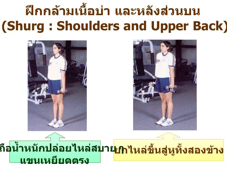 ฝึกกล้ามเนื้อบ่า และหลังส่วนบน (Shurg : Shoulders and Upper Back)