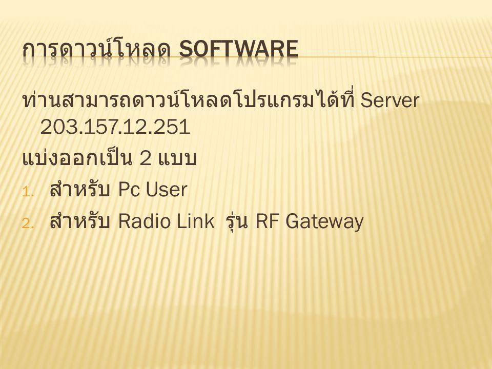 การดาวน์โหลด Software
