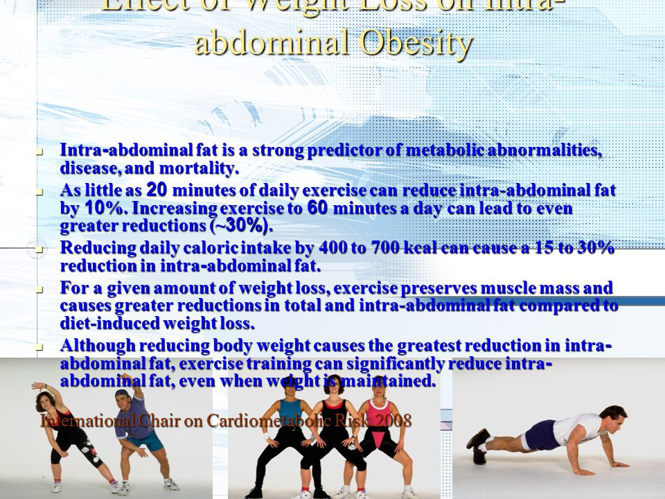 Effect of Weight Loss on Intra-abdominal Obesity