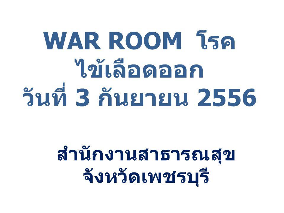 WAR ROOM โรคไข้เลือดออก วันที่ 3 กันยายน 2556