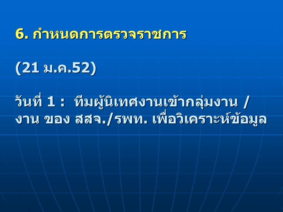 6. กำหนดการตรวจราชการ (21 ม. ค