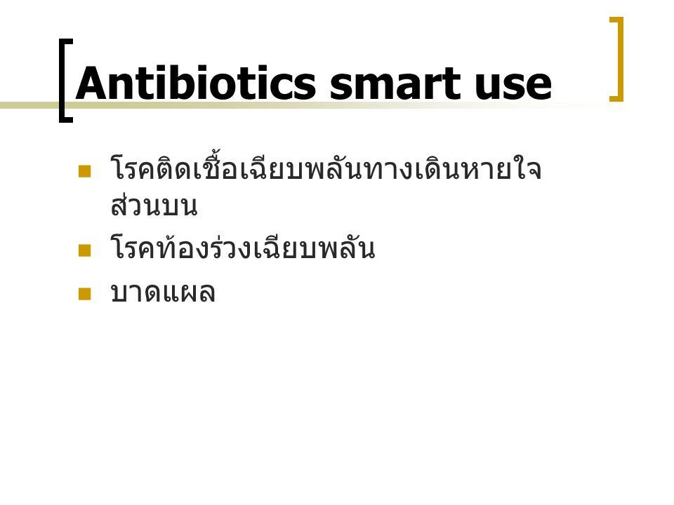 Antibiotics smart use โรคติดเชื้อเฉียบพลันทางเดินหายใจส่วนบน