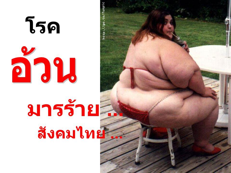 โรค อ้วน มารร้าย ... สังคมไทย ...