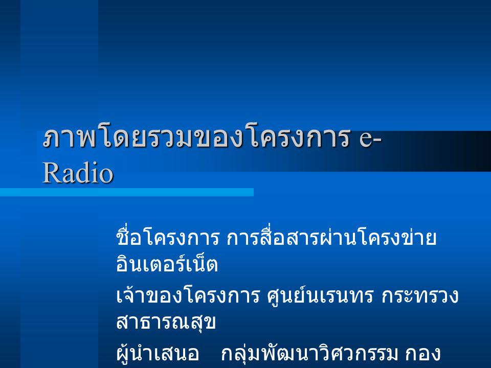 ภาพโดยรวมของโครงการ e-Radio