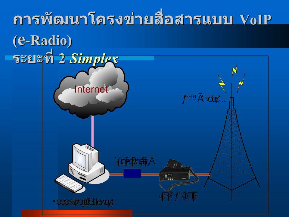 การพัฒนาโครงข่ายสื่อสารแบบ VoIP (e-Radio) ระยะที่ 2 Simplex