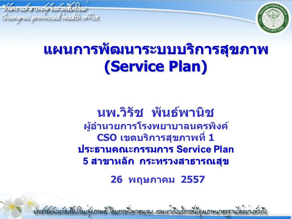 แผนการพัฒนาระบบบริการสุขภาพ(Service Plan)