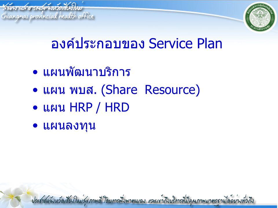 องค์ประกอบของ Service Plan