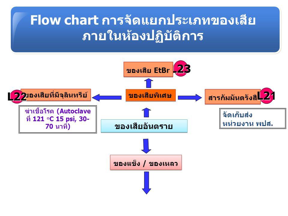 Flow chart การจัดแยกประเภทของเสีย
