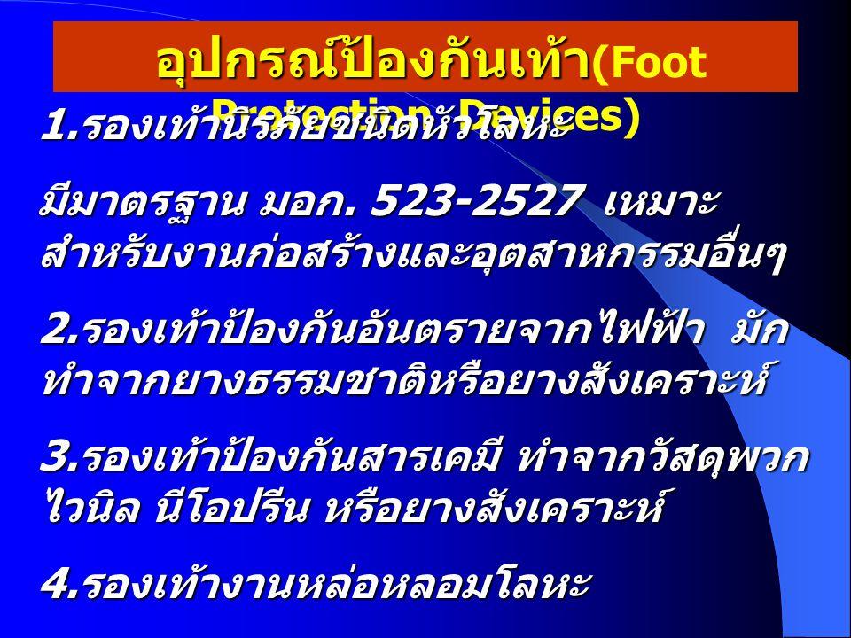 อุปกรณ์ป้องกันเท้า(Foot Protection Devices)