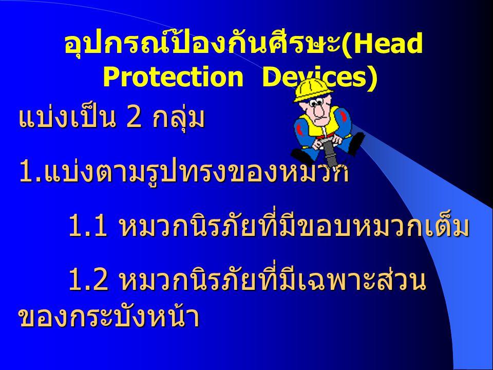 อุปกรณ์ป้องกันศีรษะ(Head Protection Devices)