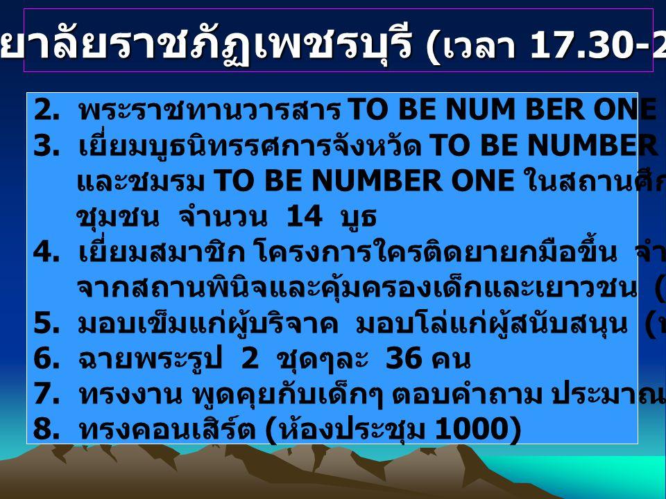 มหาวิทยาลัยราชภัฏเพชรบุรี (เวลา 17.30-21.00 น.)