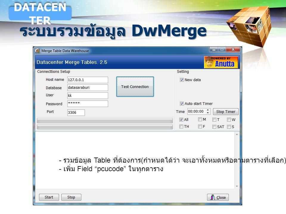 ระบบรวมข้อมูล DwMerge