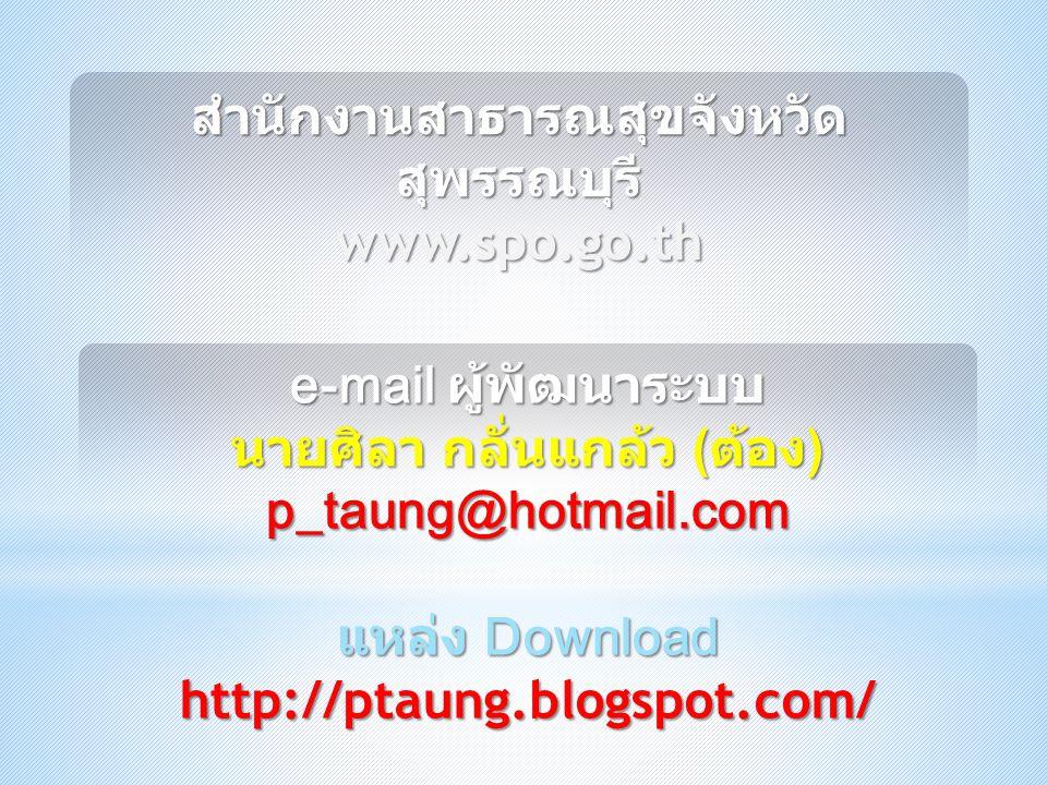 สำนักงานสาธารณสุขจังหวัดสุพรรณบุรี www.spo.go.th