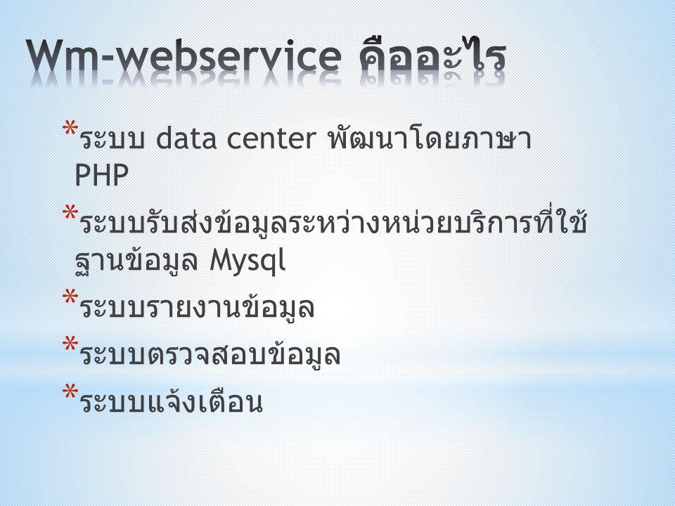 Wm-webservice คืออะไร