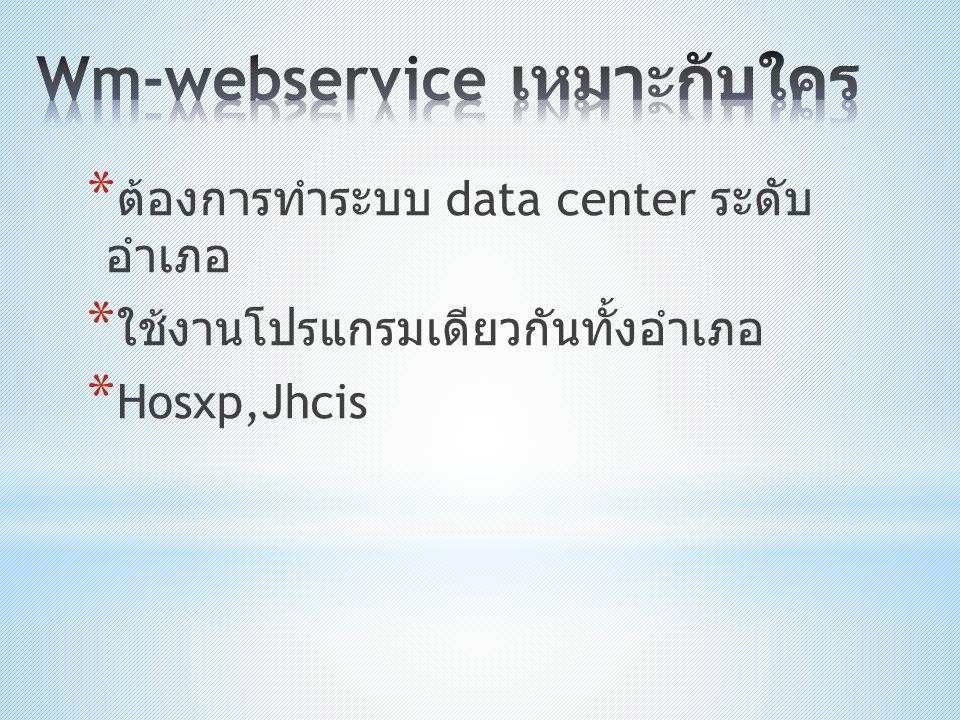 Wm-webservice เหมาะกับใคร