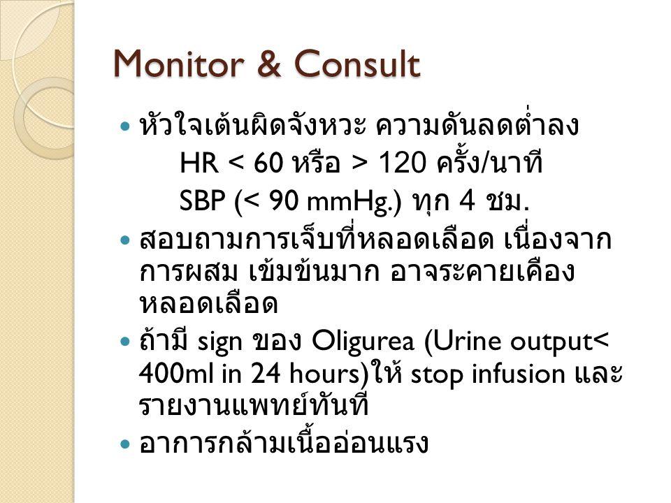 Monitor & Consult หัวใจเต้นผิดจังหวะ ความดันลดต่ำลง