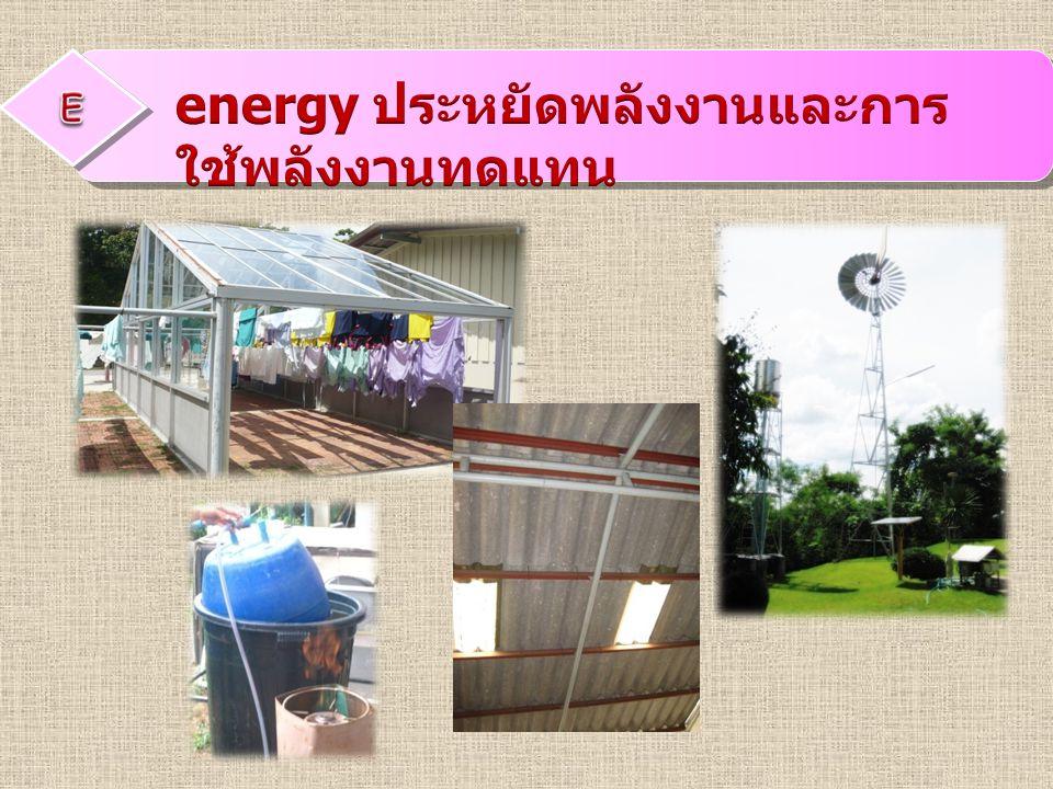 energy ประหยัดพลังงานและการใช้พลังงานทดแทน