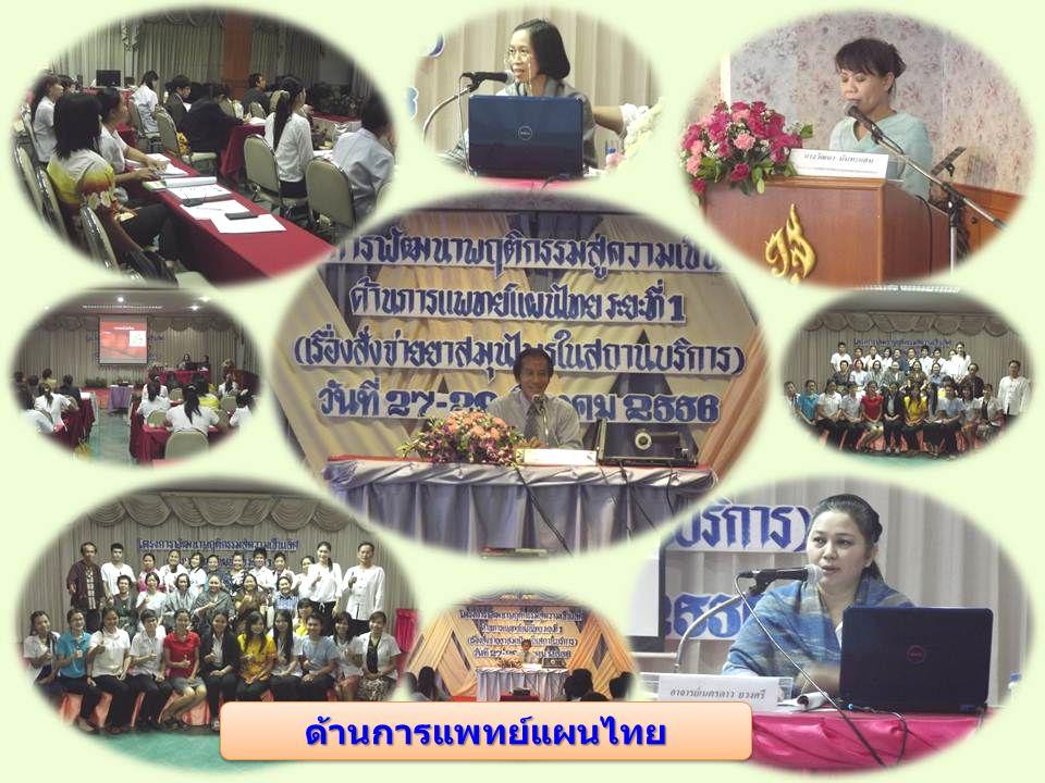ด้านการแพทย์แผนไทย