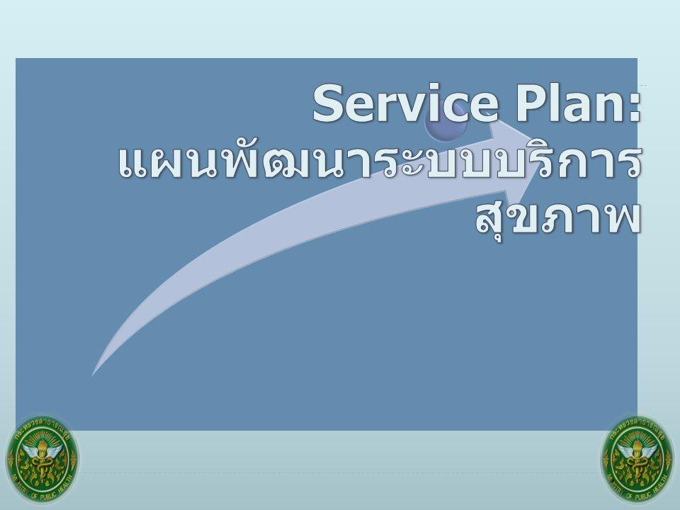Service Plan: แผนพัฒนาระบบบริการสุขภาพ