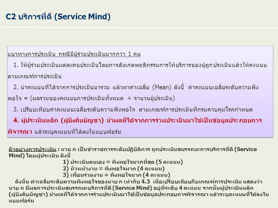 C2 บริการที่ดี (Service Mind)