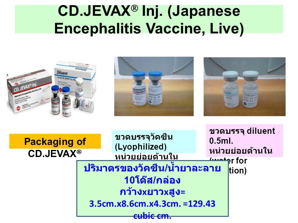 CD.JEVAX Inj. (Japanese Encephalitis Vaccine, Live)
