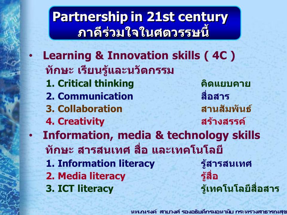 Partnership in 21st century ภาคีร่วมใจในศตวรรษนี้