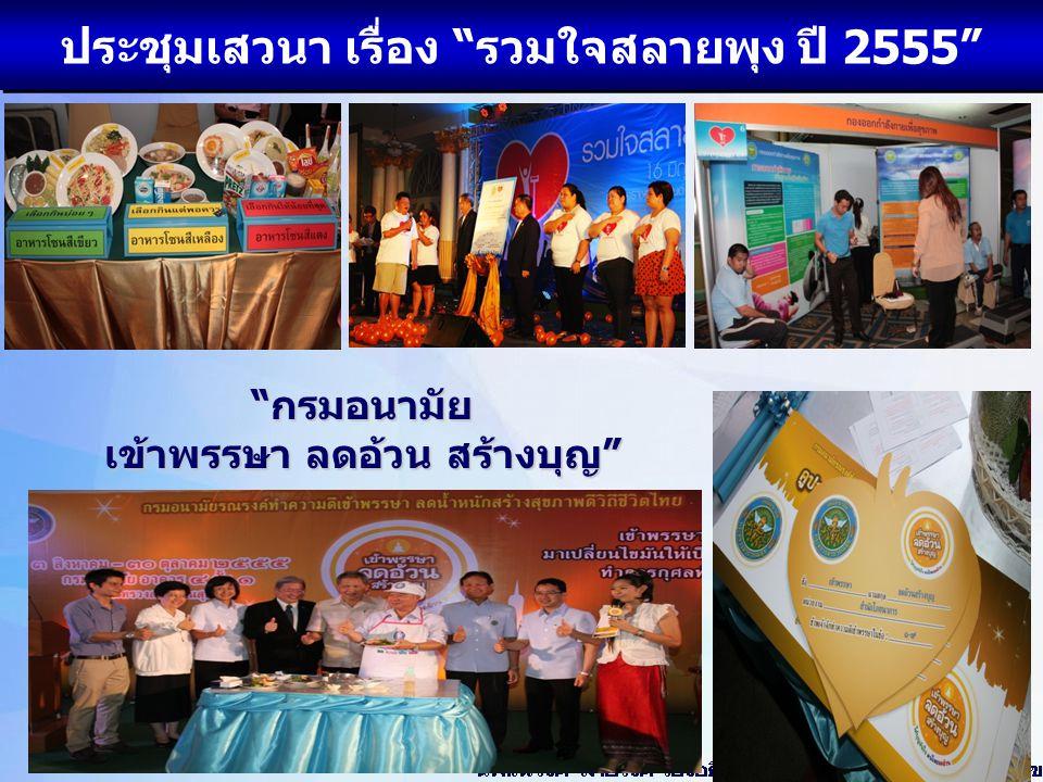 ประชุมเสวนา เรื่อง รวมใจสลายพุง ปี 2555