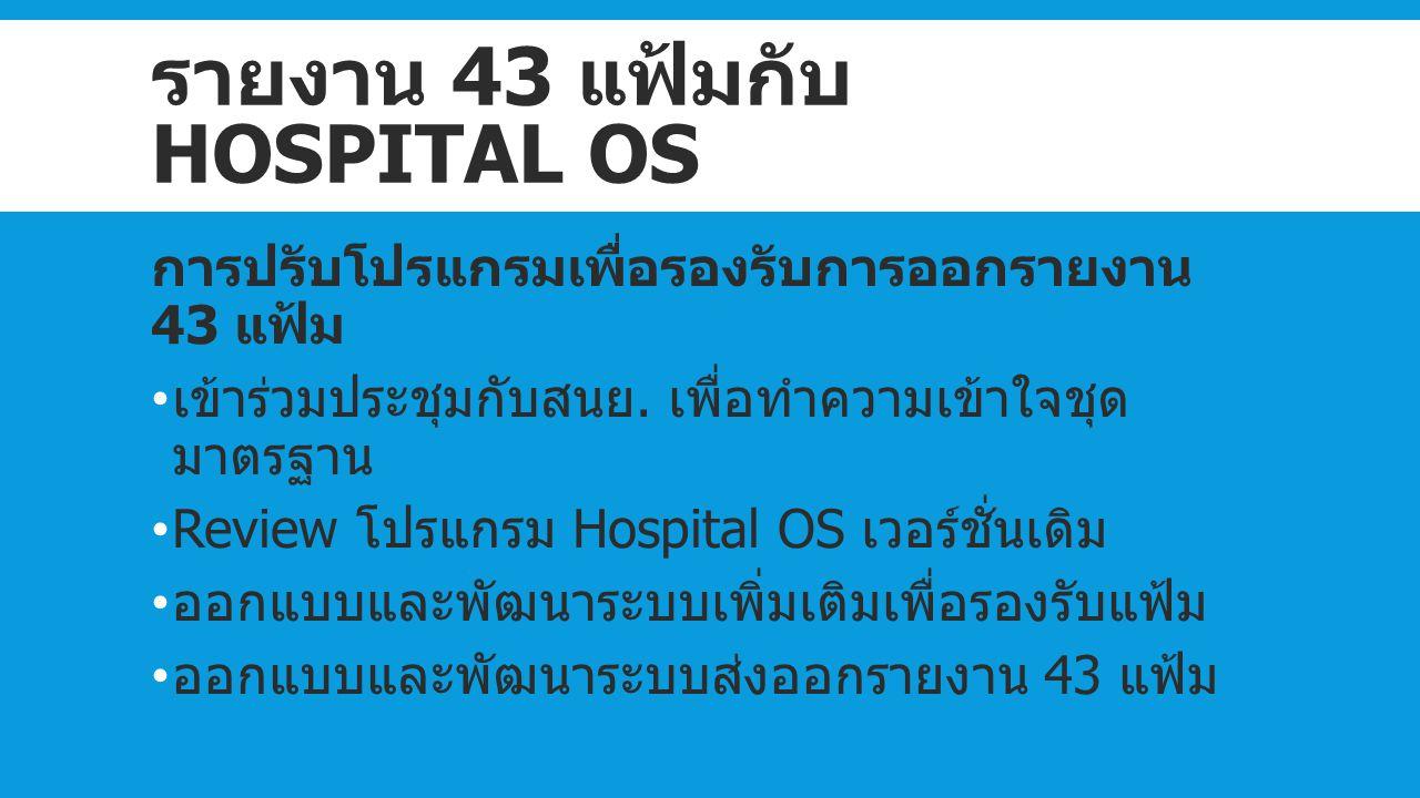 รายงาน 43 แฟ้มกับ Hospital OS