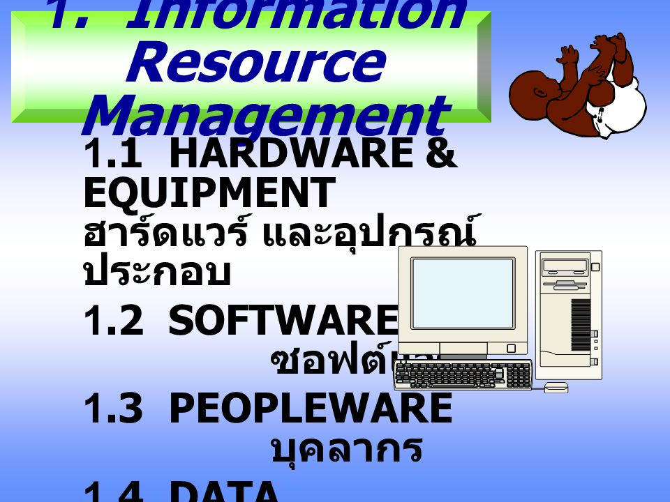 1. Information Resource Management