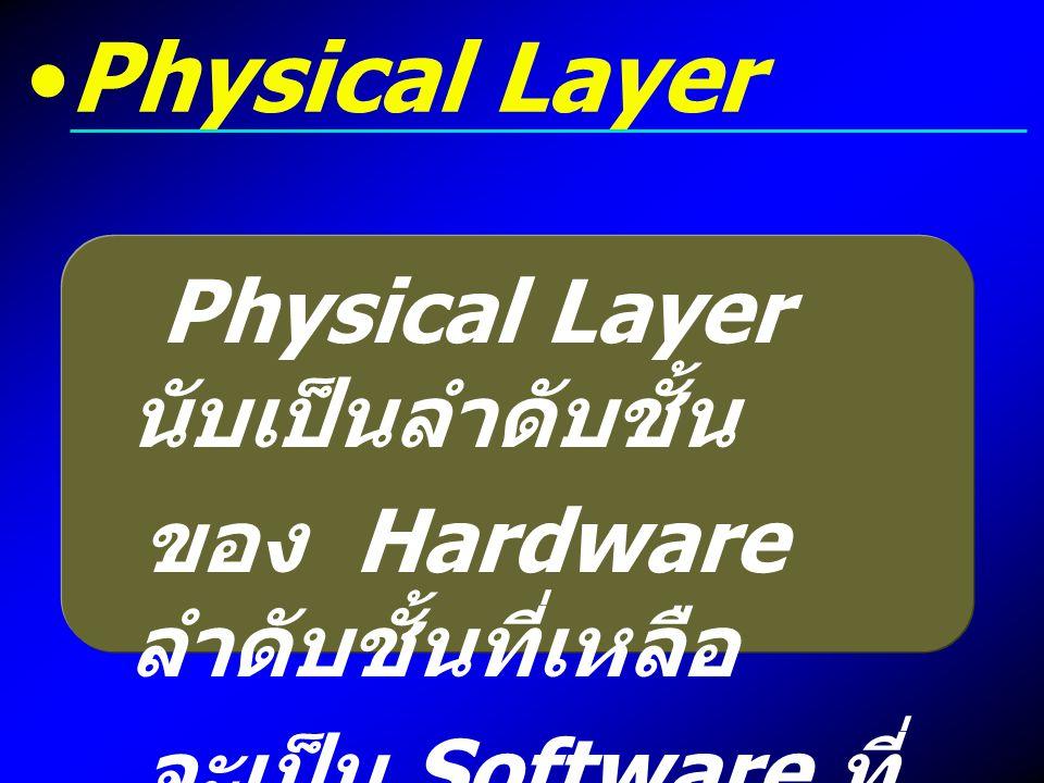Physical Layer Physical Layer นับเป็นลำดับชั้น