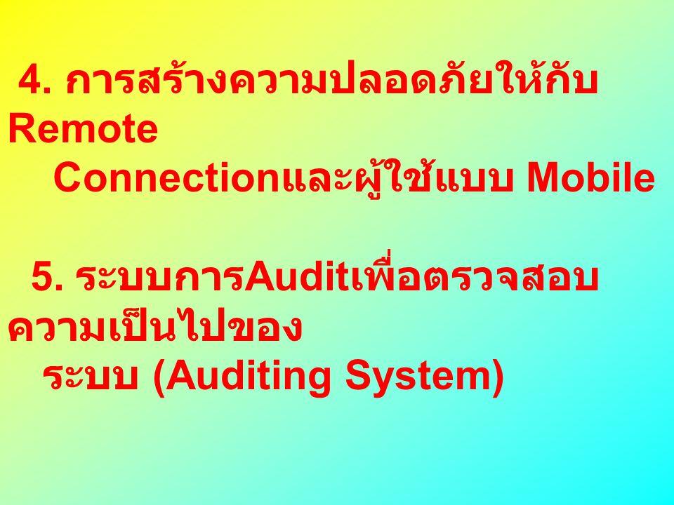 4. การสร้างความปลอดภัยให้กับRemote