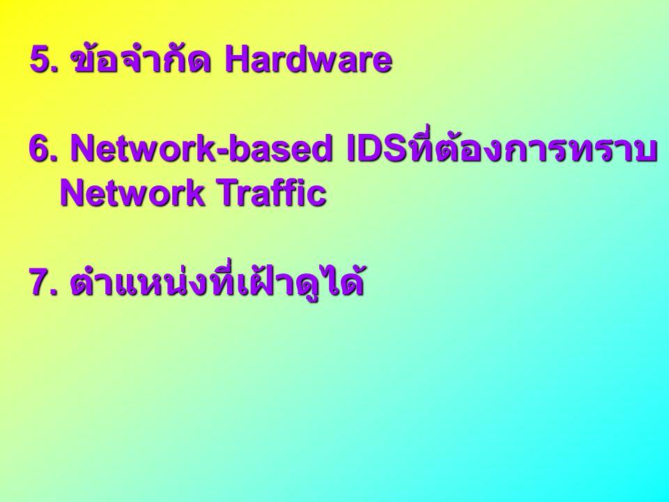 6. Network-based IDSที่ต้องการทราบ Network Traffic