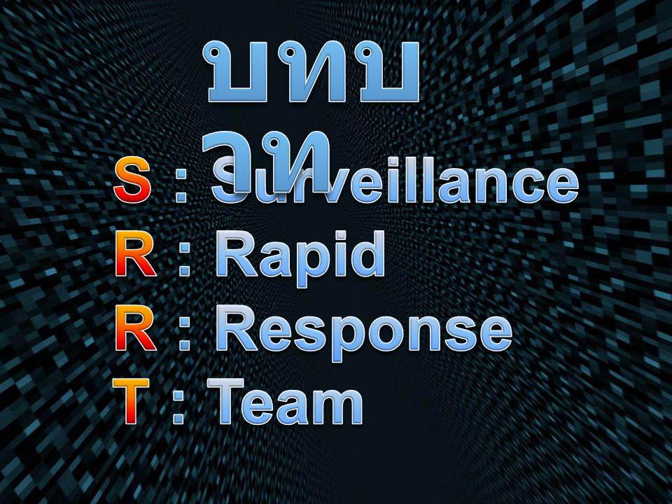 บทบาท S : Surveillance R : Rapid R : Response T : Team