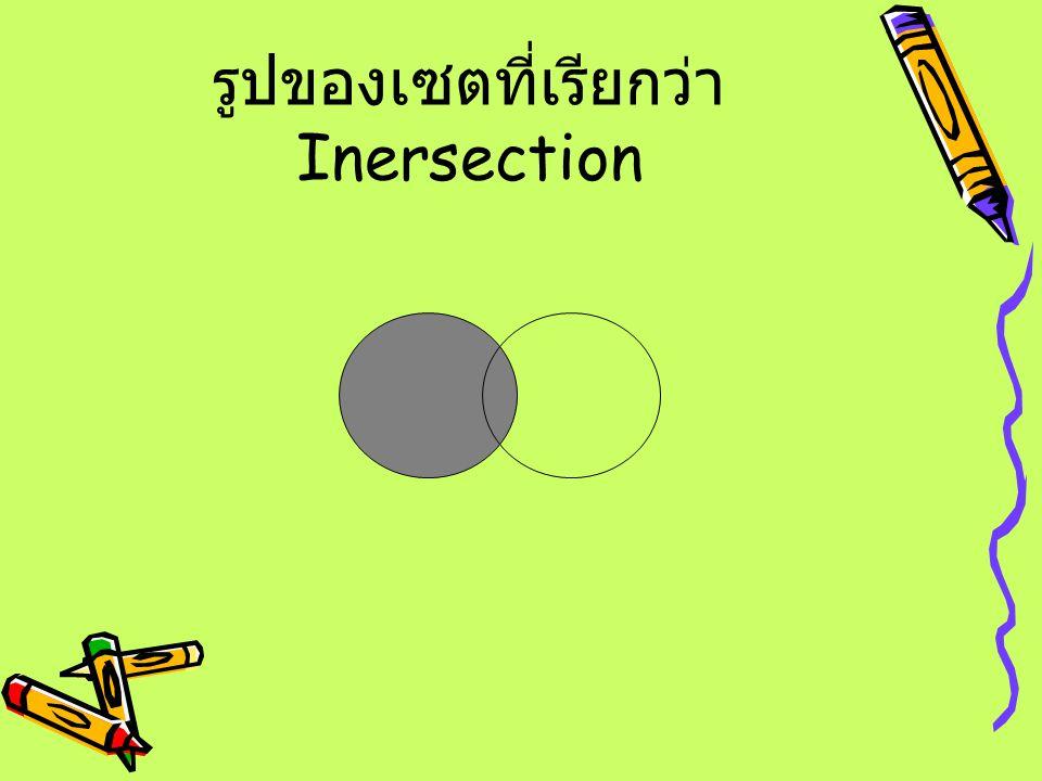 รูปของเซตที่เรียกว่าInersection