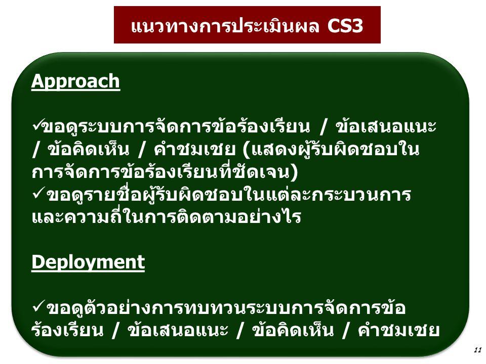 แนวทางการประเมินผล CS3