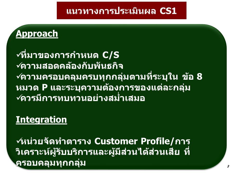 แนวทางการประเมินผล CS1