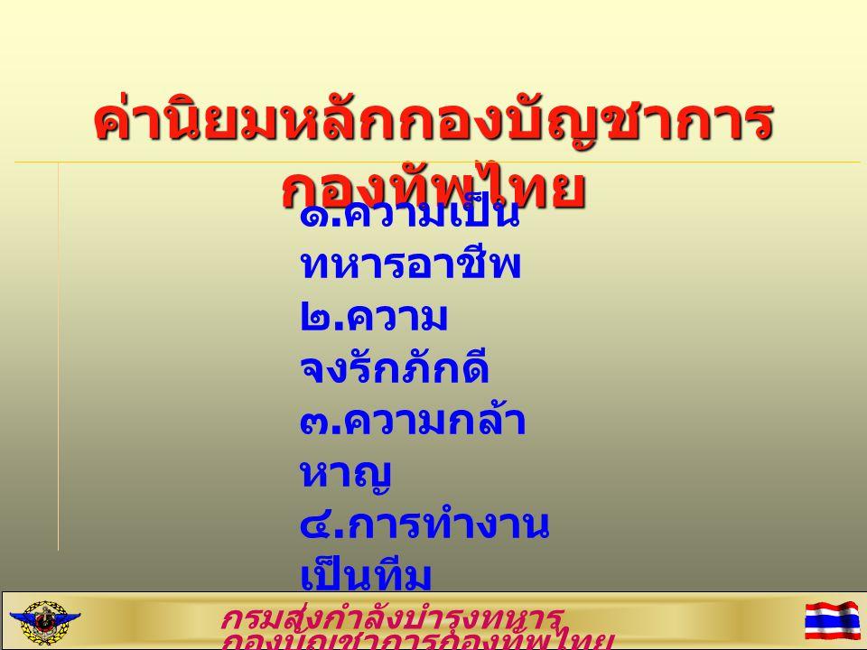 ค่านิยมหลักกองบัญชาการกองทัพไทย