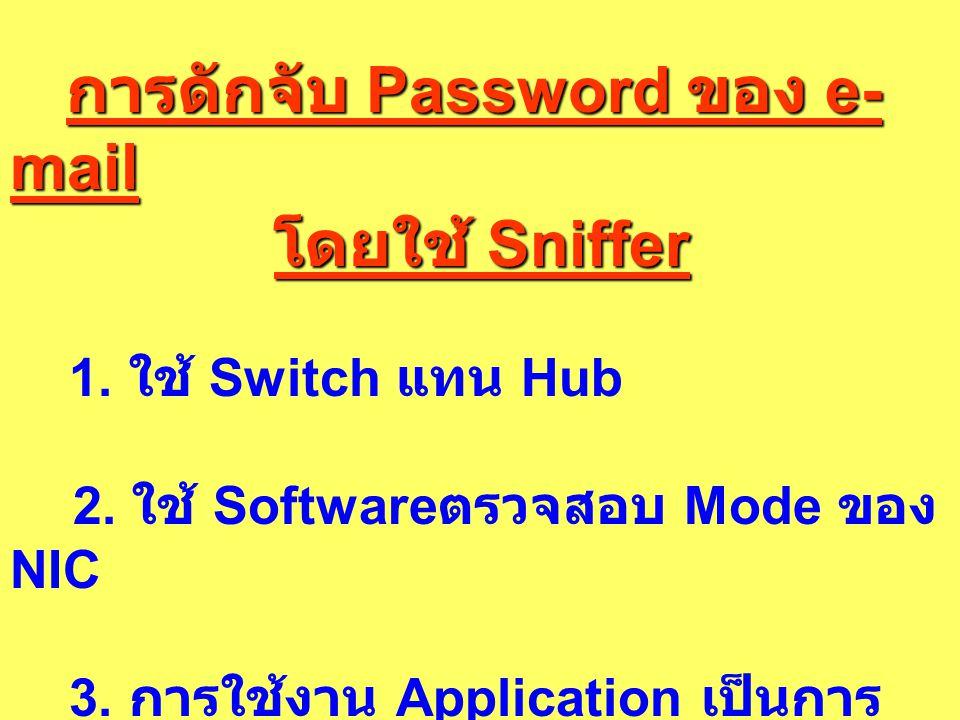 การดักจับ Password ของ e-mail โดยใช้ Sniffer